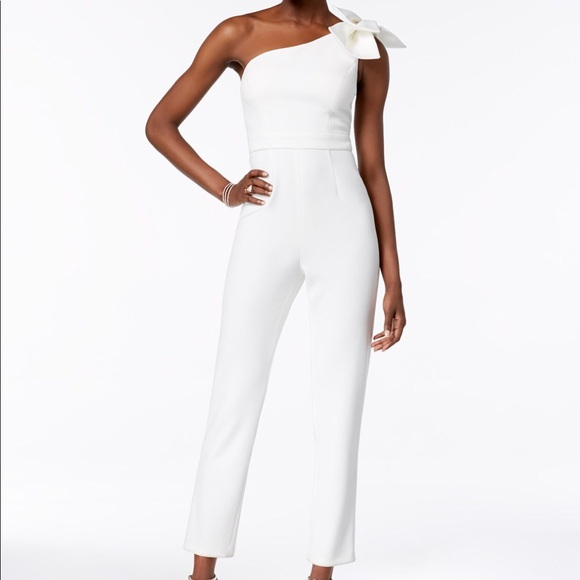 4b2647d2136 Adrianna Papell Womens one shoulder jumpsuit